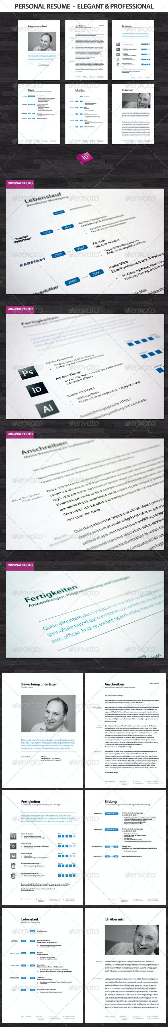 Professional and Elegant Resume Set  - Resumes Stationery