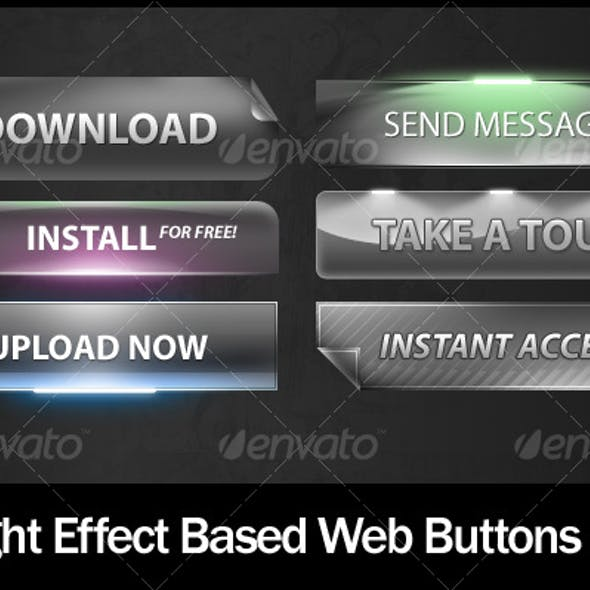 Light Effect Based Web Buttons #3