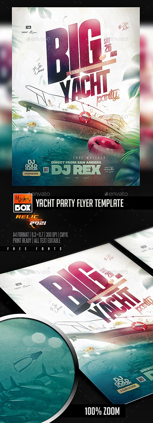 Yacht Party Flyer Template - Events Flyers