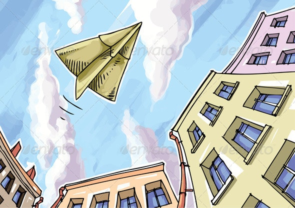 Paper plane - Objects Vectors