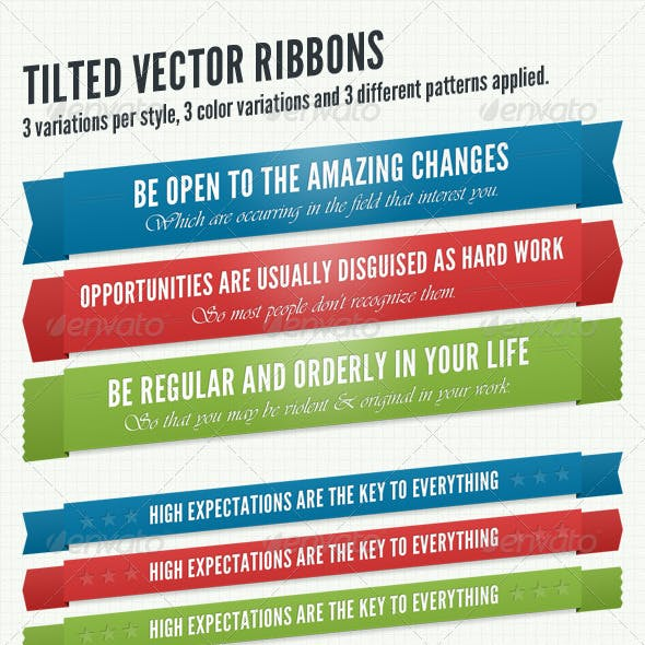 Tilted Vector Ribbons