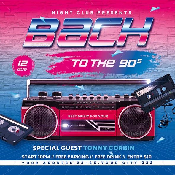 90's Retro Party Flyer