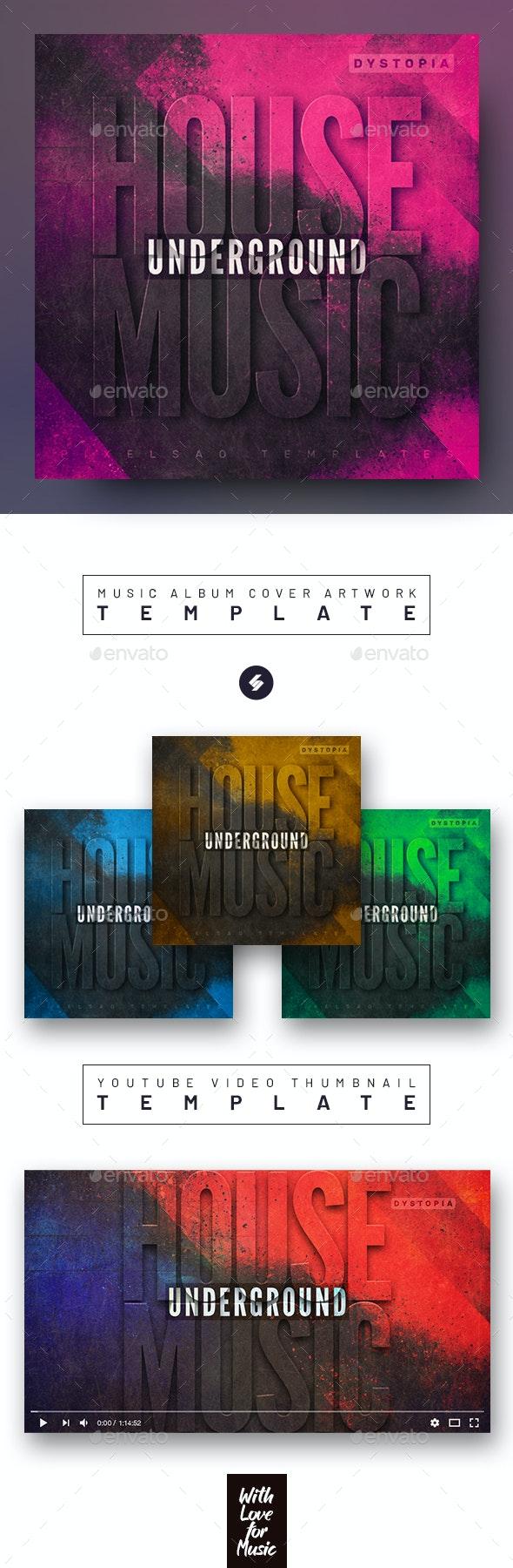 Underground Music Album Cover Artwork Template - Miscellaneous Social Media