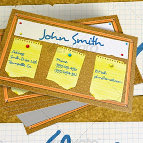 Bulletin Board Business Card
