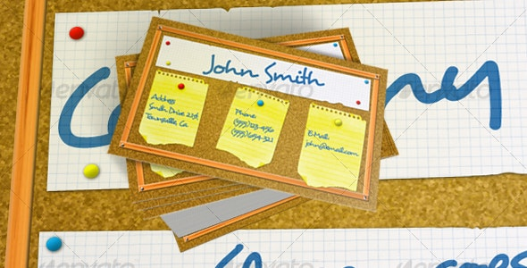 Bulletin Board Business Card - Real Objects Business Cards