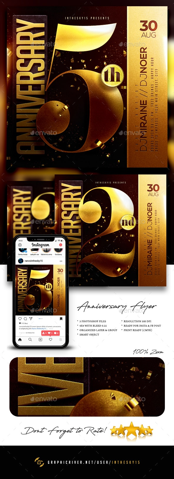 Anniversary Flyer - Events Flyers