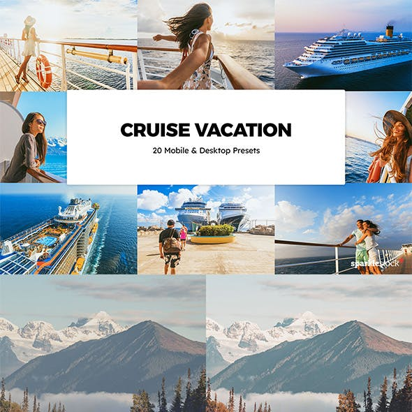 20 Cruise Vacation Lightroom Presets & LUTs