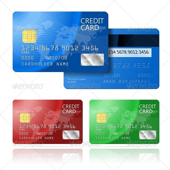 Credit Card 2 sides - Commercial / Shopping Conceptual