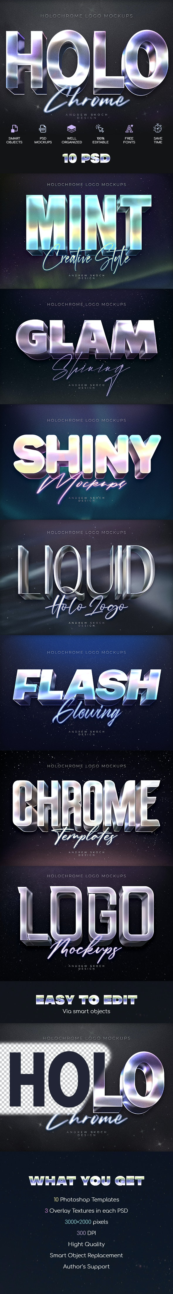 Holochrome Text Effects - Text Effects Actions