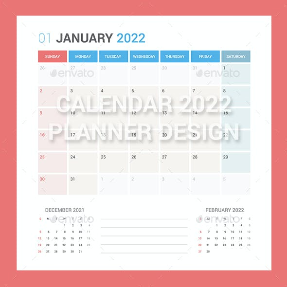 Calendar 2022 Planner Design [Sunday]