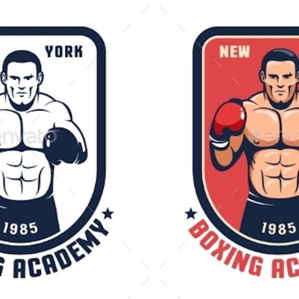 Boxing Gym Retro Badge
