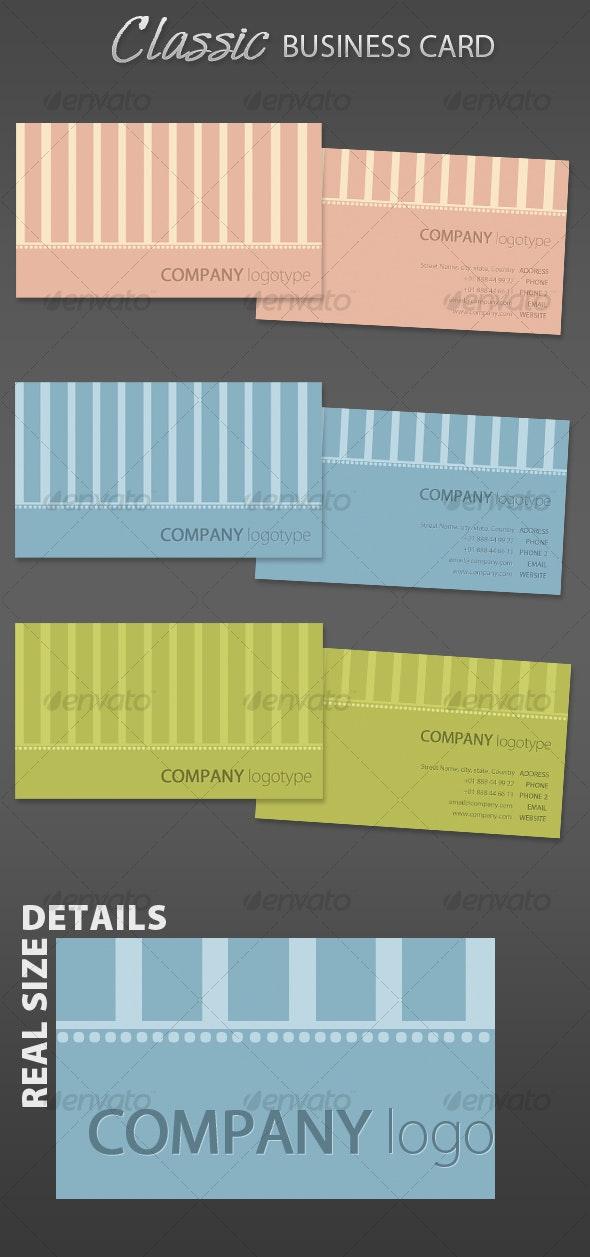 Classic Business Card Corporative - Creative Business Cards