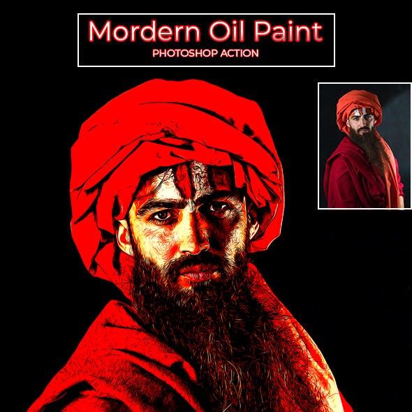 Modern Oil Paint 2 - Photoshop Action
