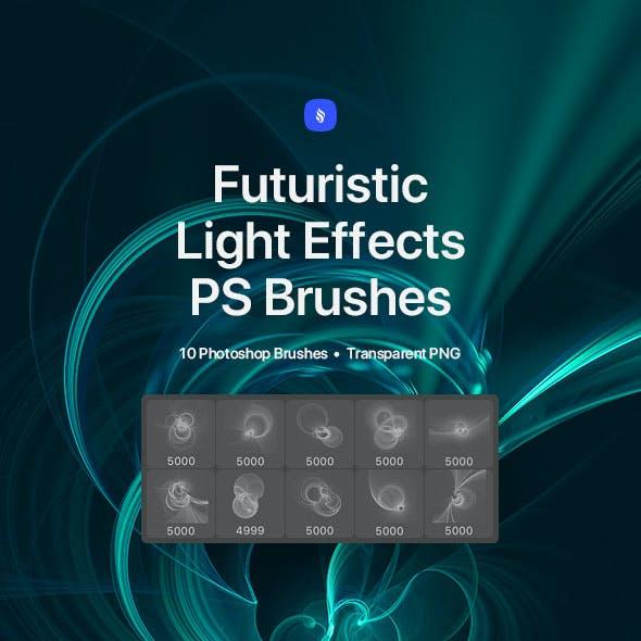 Futuristic Light Effects Photoshop Brushes