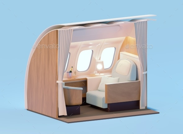 Airplane Interior - Objects 3D Renders