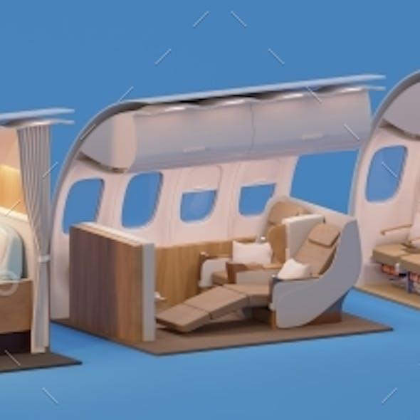 Airplane Interior Crosssection