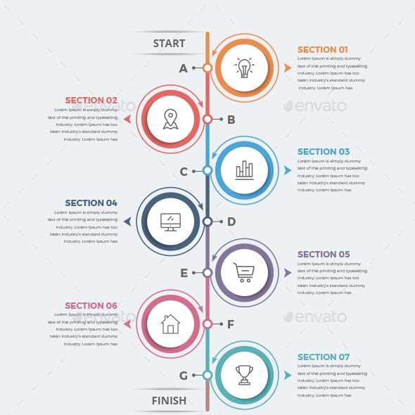 Modern Vertical Circle Infographics