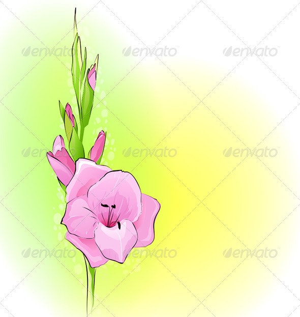 Background with a flower - Backgrounds Decorative