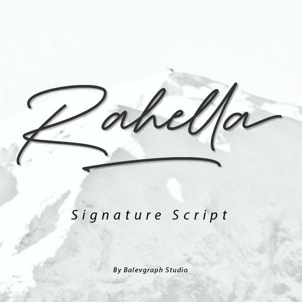 Rahella - Signature Script Font