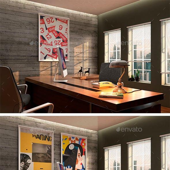 Elegant Office MockUp Scenes 01