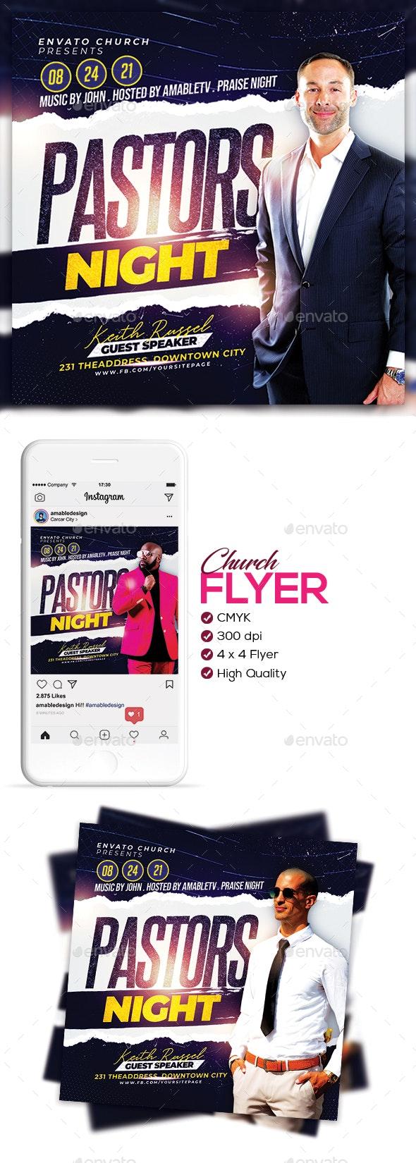 Pastor's Night Church Flyer/Poster - Church Flyers