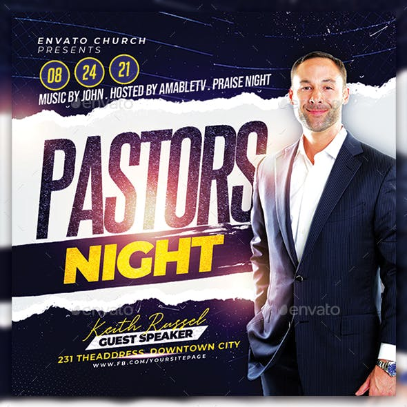 Pastor's Night Church Flyer/Poster