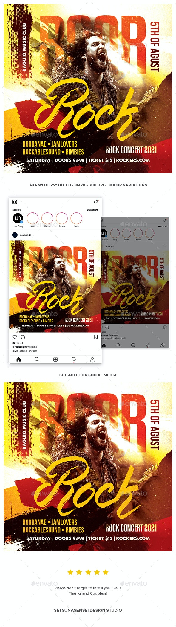 Roar Rock Flyer - Concerts Events
