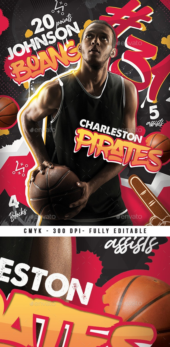 Basketball Player Record Flyer - Sports Events