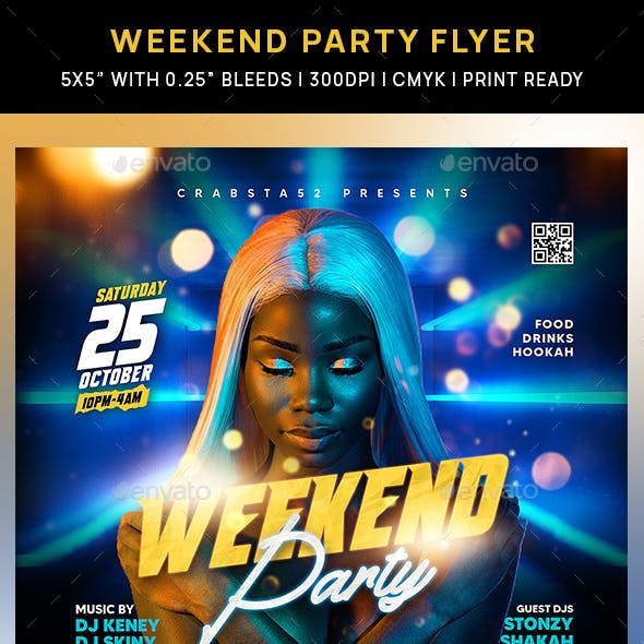 Weekend Party Flyer