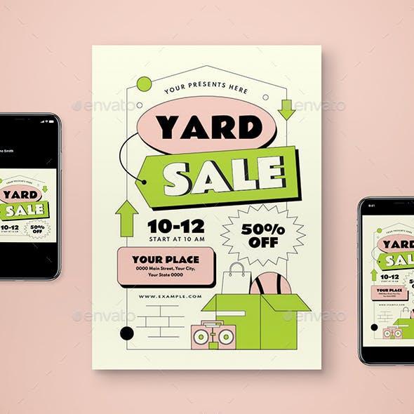 Yard Sale Flyer Set