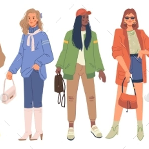 Women Fashion Cloth Autumn Spring Collection Set