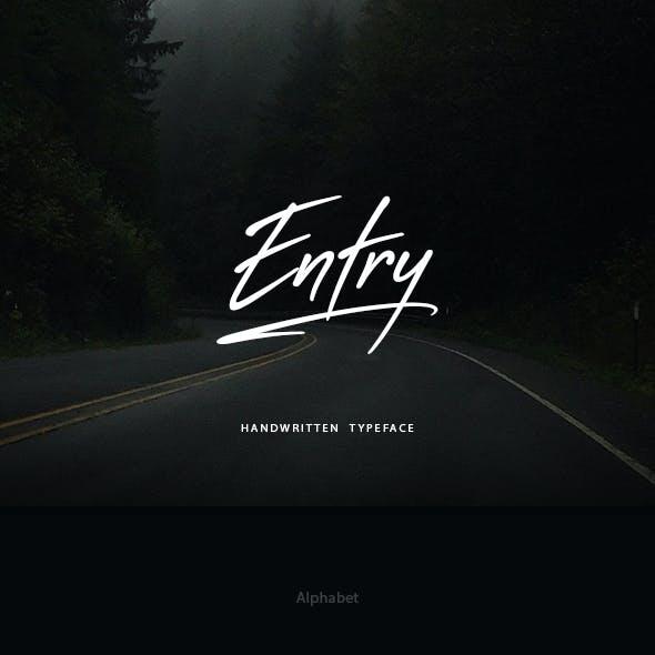 Entry Handwritten Font