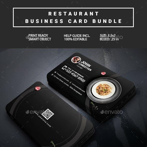 Restaurant Business Card Bundle