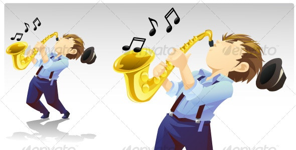 Saxophonist - People Characters