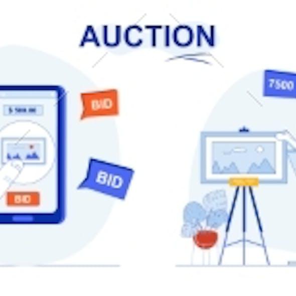 Auction Web Concept Set