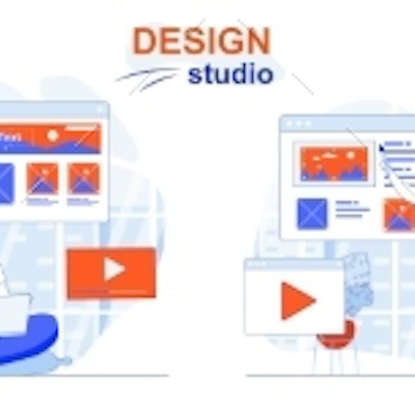 Design Studio Web Concept Set