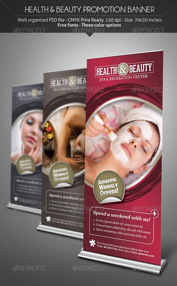 Health & Beauty - Promotion Banner - Signage Print Templates
