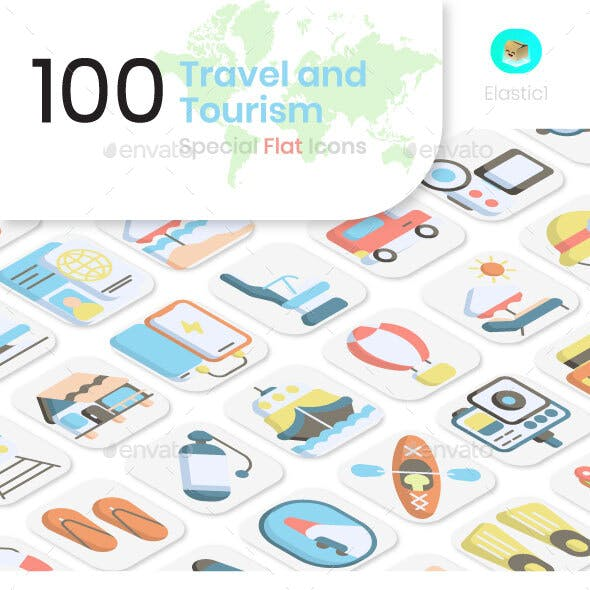 Travel and Tourism Flat Icons