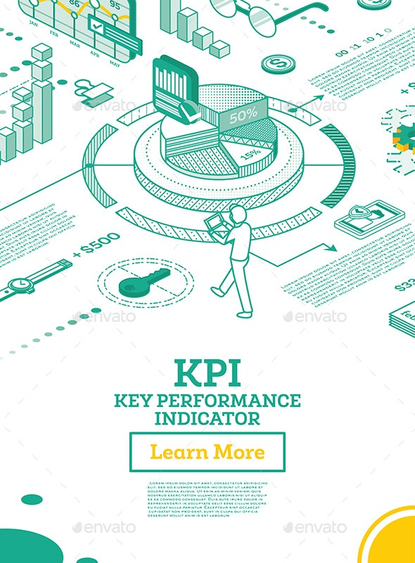 KPI Key Performance Indicator. Vector Illustration. - Technology Conceptual