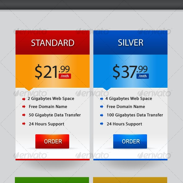 Elegant Promo Web Boxes & Star Web Banners
