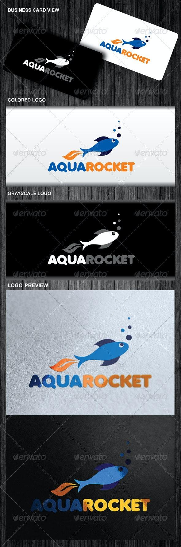 Aqua Rocket Logo - Symbols Logo Templates