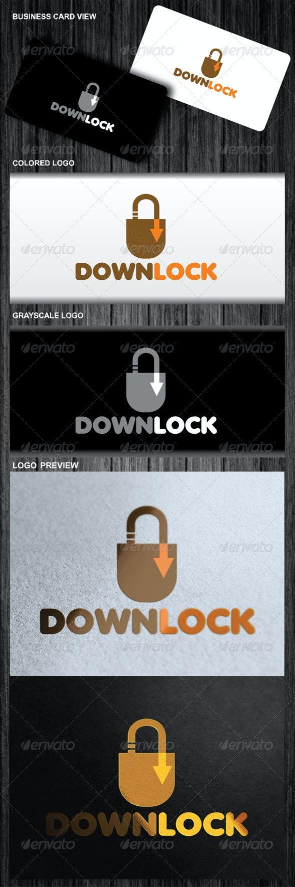Down Lock Logo - Symbols Logo Templates