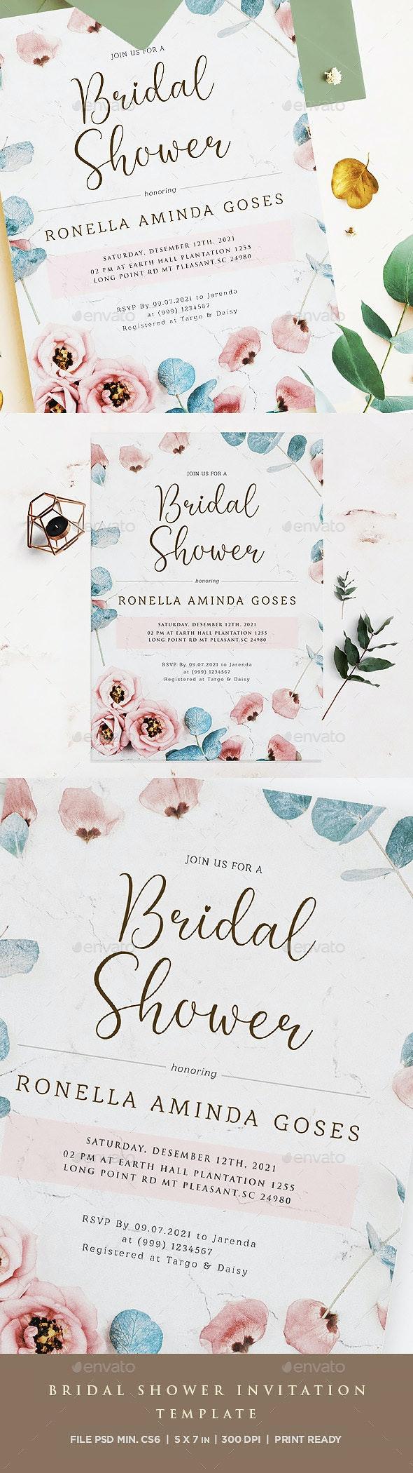 Printable Bridal Shower Invitation Template - Invitations Cards & Invites