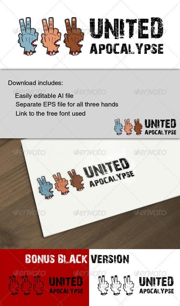 Zombie Inspired Cartoon Logo - Humans Logo Templates