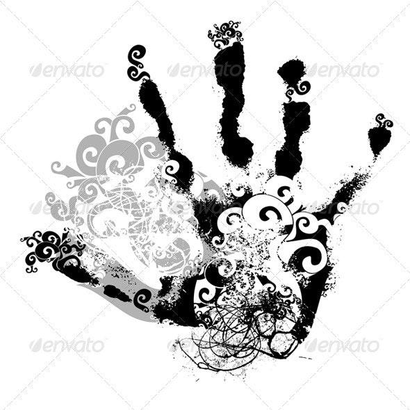 Decorative handprint - Decorative Symbols Decorative