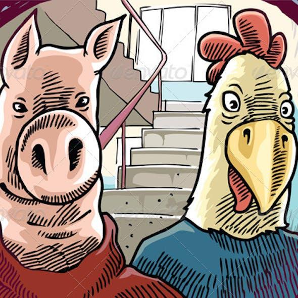 Strange Visitors Behind the Door
