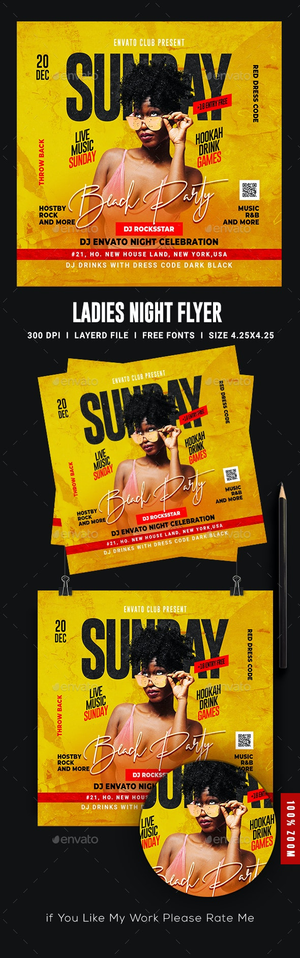 Night Club Flyer Template - Events Flyers