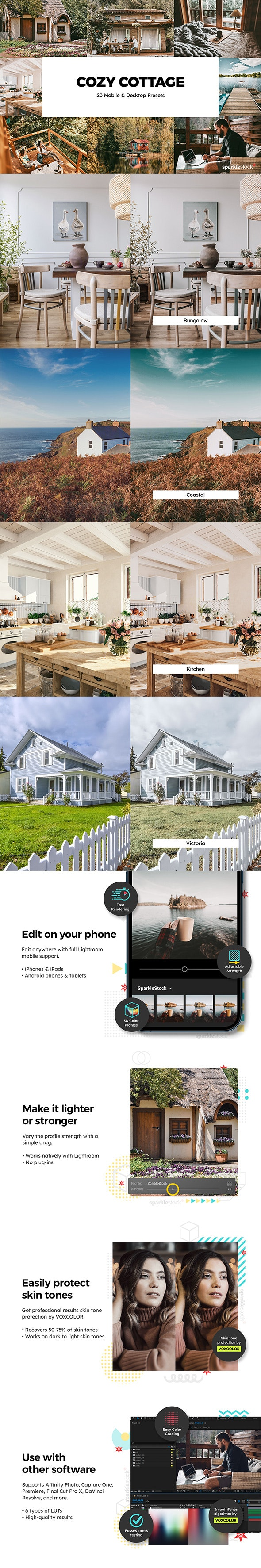 20 Cozy Cottage Lightroom Presets & LUTs - Lightroom Presets Add-ons