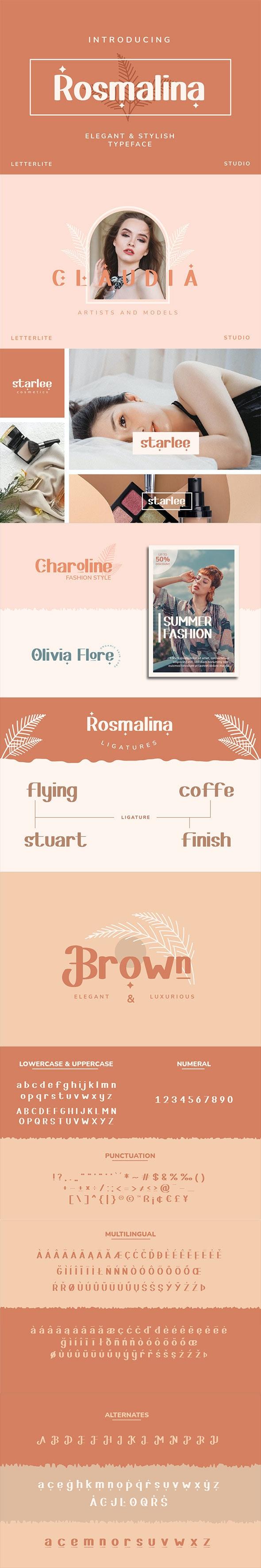 Rosmalina Sans Serif Font - Sans-Serif Fonts