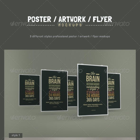 Poster / Artwork / Flyer Mockups